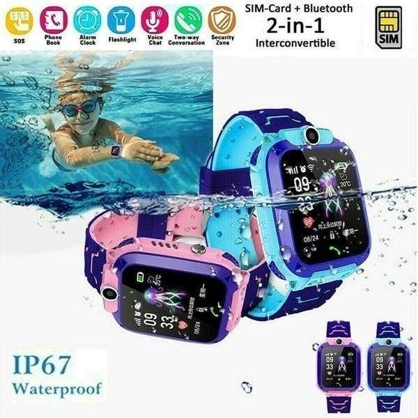 Q12 Anti Lost Smart Watch IP67 Waterproof  LBS Kid SmartWatches Baby Watch 1.44 Inch Waterproof Voice Chat LBS Finder Locator Tracker