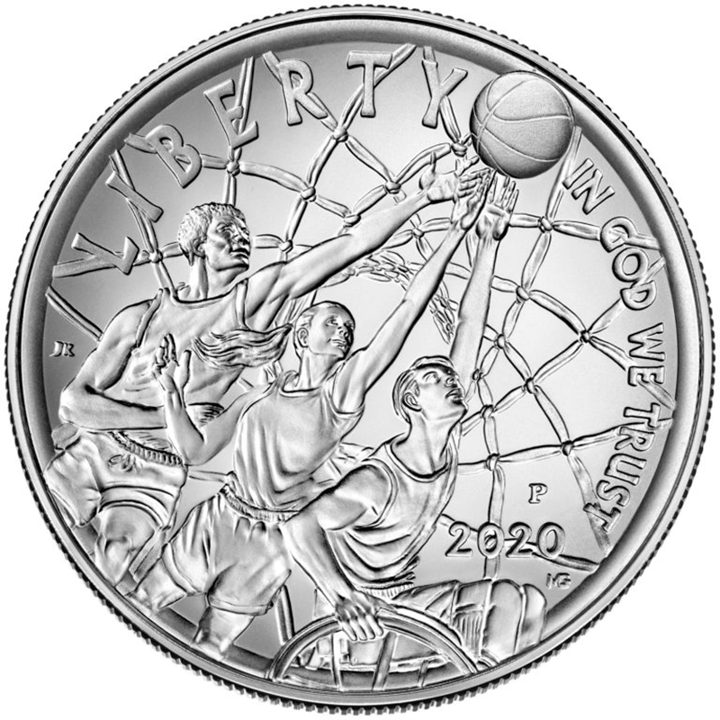 Basketball Hall of Fame Silver Dollar Coin(Pre-sale)