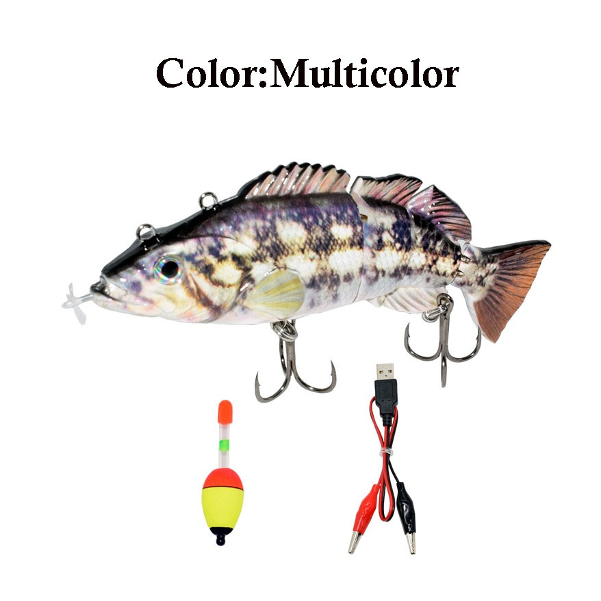 Fishing Lure  Electric  Bait  USB Rechargeable Swimbait Auto-swimming Bait Vivid Fish Fishing Tackle Outdoor Sports