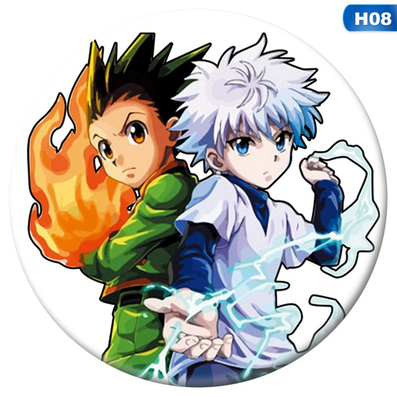 9 Styles New 58Mm Japanese Anime Hunter X Hunter Badge Round Pin Brooch For Hats Clothes Backpack Hot