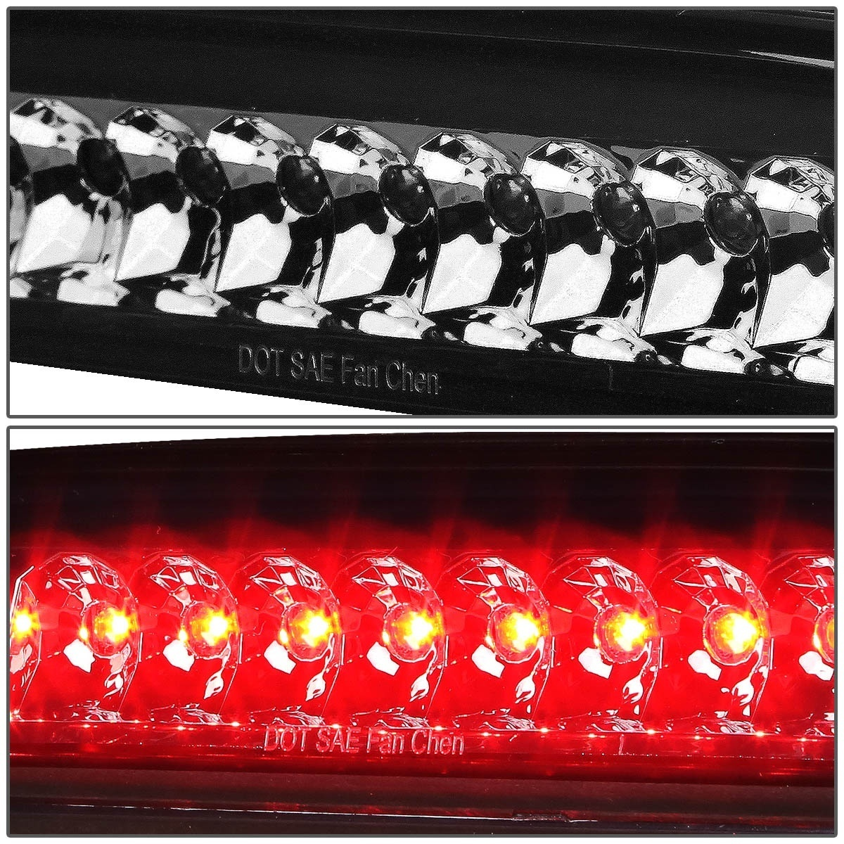 For 1995 to 2017 Toyota Tacoma LED 3rd Third Tail Brake Light Rear Stop Lamp Smoked Housing 96 97 98 99 00 01 02 03 04 05 06 07 08 09 10 11 12 13 14 15 16