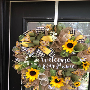 🎁Holiday Promotion🎁Welcome Sunflower Wreath