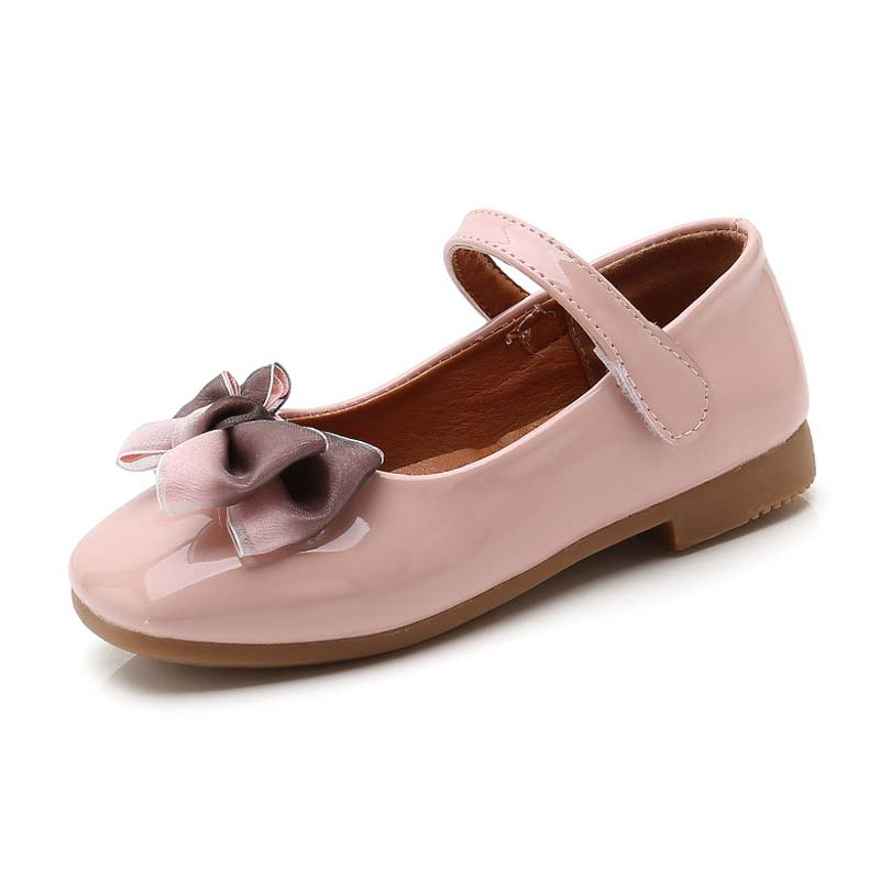 children bowknot flat dress shoes girl