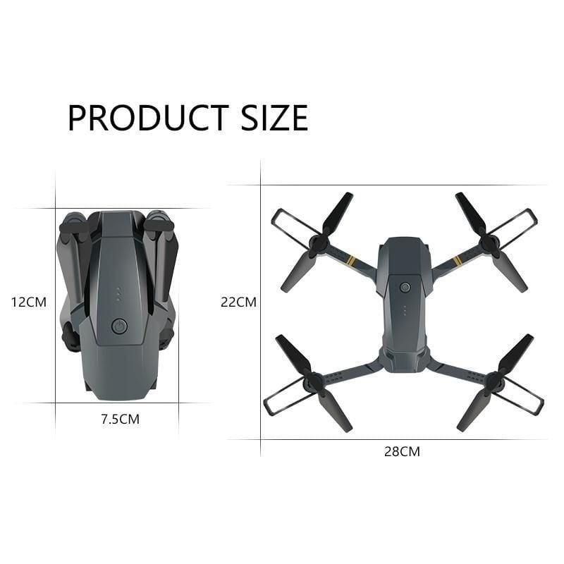 2020 NEW Limited Edition Upgrade Mavic Pro Clone Coming! Professional HD Camera Folding Drone Wireless Wifi 360 Degree Roll FPV Selfie RC Drone Quadcopters RTF with Real Time Video Free 3 Batteries and Storage Bag