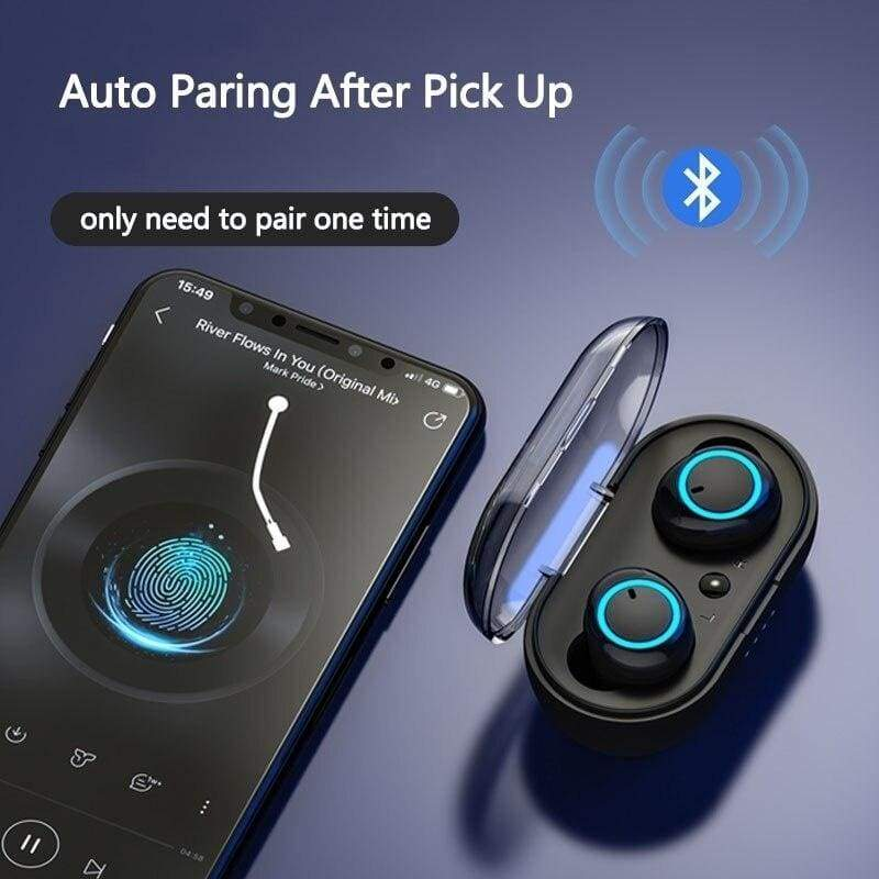 Bluetooth5.0 TWS Bluetooth Earphones Wireless Bluetooth Headphones With and Without charging box Sport Waterproof Bluetooth Headset Touch Control Mini Earbuds with Power Bank Chaging Case