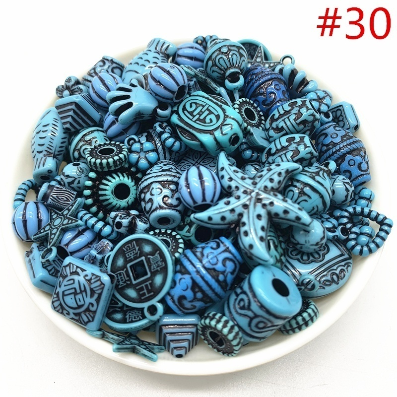 Wholesale 20g Acrylic Beads mixing Beads Style for DIY Handmade Bracelet Jewelry Making Accessories