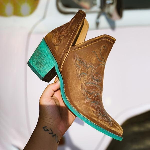 Zoeyootd Women Vintge Ankle Boots