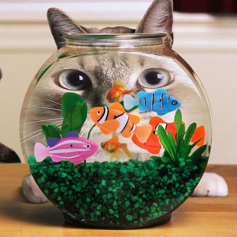 2020 New Funny Swim Electronic Fish Toy Activated Battery Powered Robotic Pet For Fishing Tank Decorating Fish