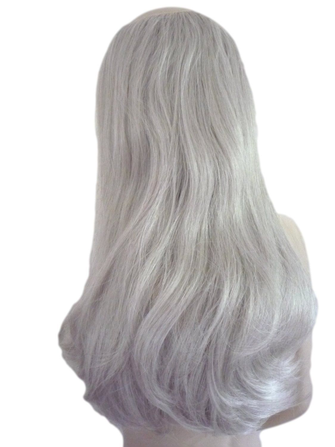 Gray Wigs Natural Hair Line Lace Frontal Wigs Coffee For Grey Hair Granny Grey Hair Light Pink Long Wig Ash Grey Hair Men 100 Human Hair Weave