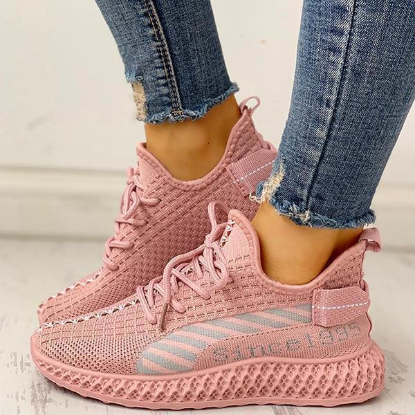 Mokoshoes Lace-Up Breathable Casual Sneakers