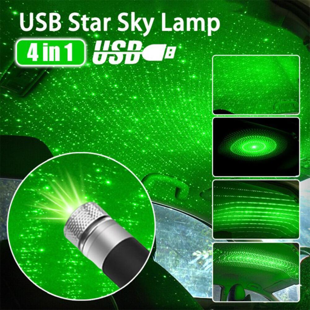 2020 Car Roof Decoration Remantic Star Projection Light USB Night Light