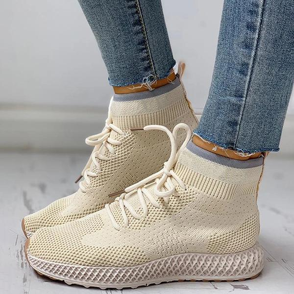 Upawear Breathable Lace-up Casual Socks Sneakers