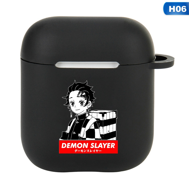 Demon Slayer: Kimetsu No Yaiba Anime Pattern For Apple Airpods 1 2 Case  Earphone Protective Cover Silicone Headphone Case