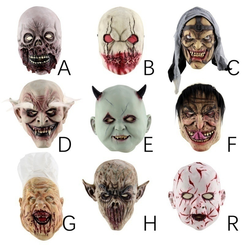 Halloween Cosplay Mask Scary Zombie Monster Ghost Costume Mask for Halloween Masquerade Party Props