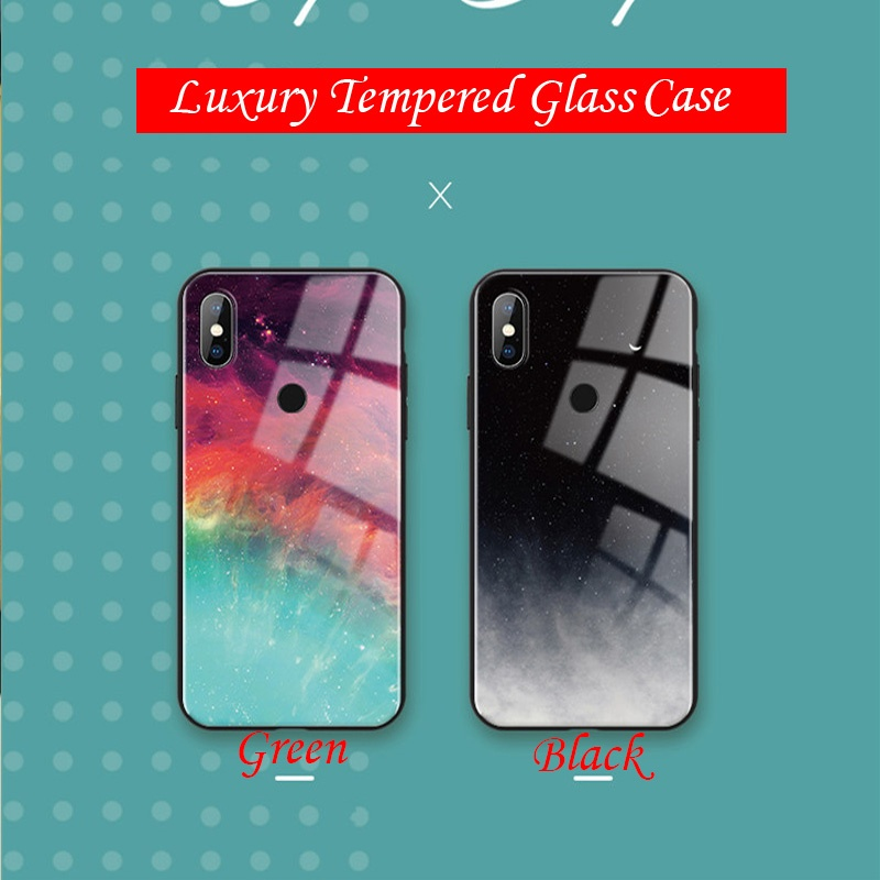 Luxury Gypsophila Marble Tempered Glass Phone Case for Huawei Y5 2019 Y6 2019 P20 Lite 2019 Y9 2019 P Smart Plus 2019 P Smart 2019 P Smart Plus 2018 Y6 Prime 2018 Y7 2018 Y5 2018 P30 P30 Pro P30 Lite P20 Pro P20 Lite 2018 Mate 20 Lite Mate 20 Pro/Samsung