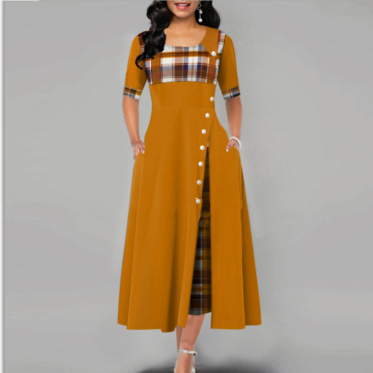 New Arrival Half Sleeve Round Plus Size Party Dresses women