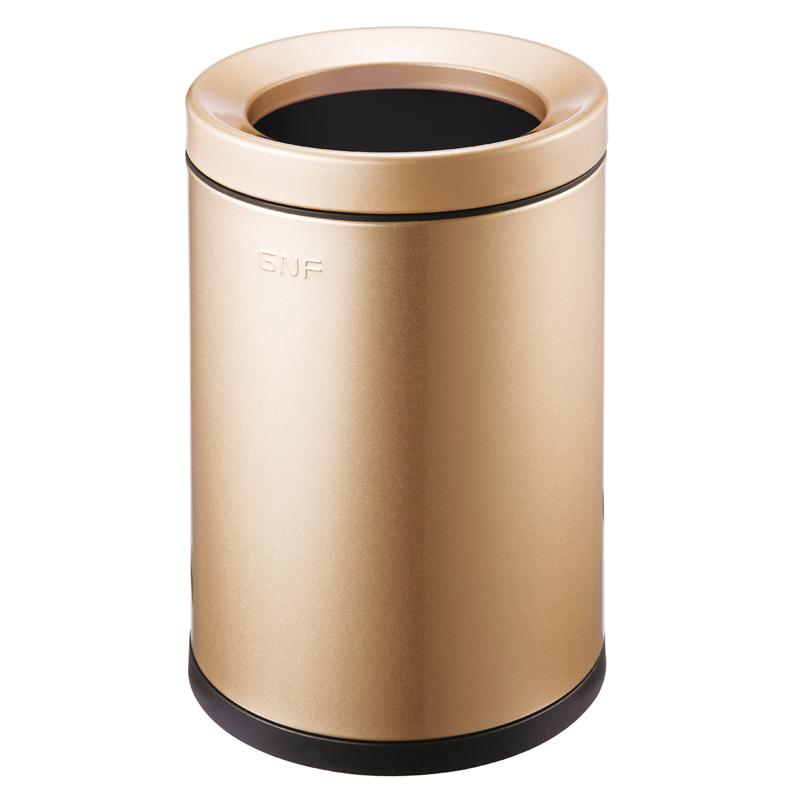 round household 6L stainless steel open top trash can-1.20