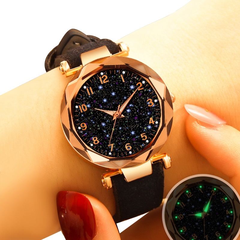 Fashion Luxury Ladies Watch Fashion Casual Dress Leather Strap Luminous Dial Quartz Watch Female Clock Reloj Mujer