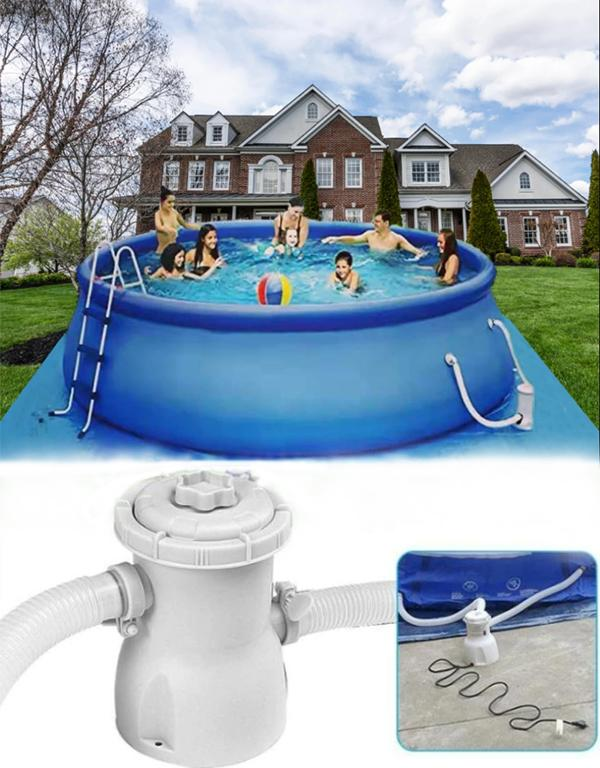 Large Size Summer 12 ft x 36 in Easy Set Pool Set with Air Pump,Swim Center For  Outdoor, Garden