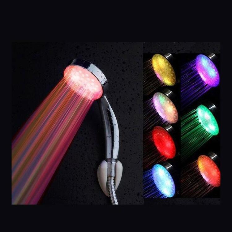 LED Colorful Water Powered Rainbow Shower Head