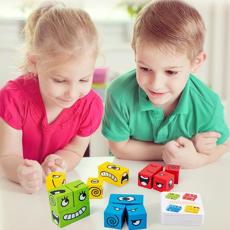 (Christmas Gifts For Children)Thinking Training Children Face-Changing Rubik's Cube