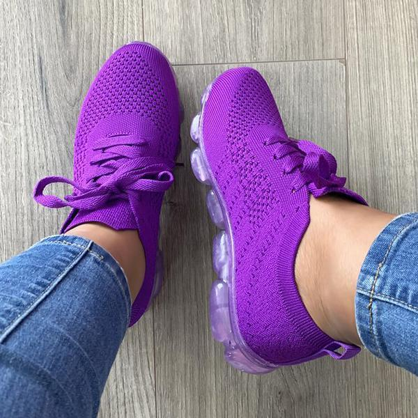 Mokoshoes Mesh Breathable Lace-Up Light Sneakers