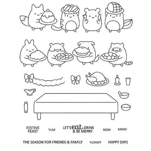 Animal christmas Transparent Clear Silicone Stamp / Seal for DIY scrapbooking / photo album Decorative clear stamp sheets A2132