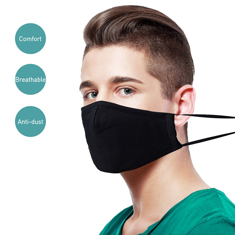 Anti-Dust Mouth Masks PM2.5 Anti Pollution Breathable Cotton Face Masks Washable Respirator Mouth-muffle