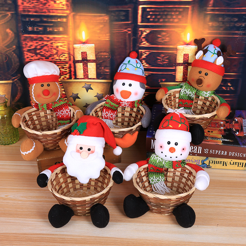 🎄Christmas Hot Sales🎄Christmas Santa's Candy Basket Decorations
