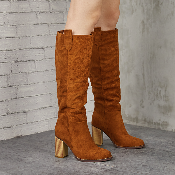 Mokoshoes Distressed Faux Suede Long Boots