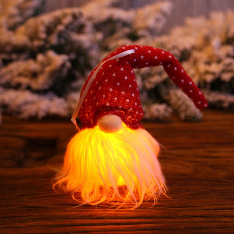 Glowing Gnome Christmas Ornaments