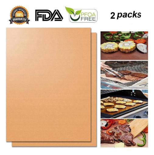 80% OFF--Hirundo Non-Stick BBQ Baking Mats (2PCS)
