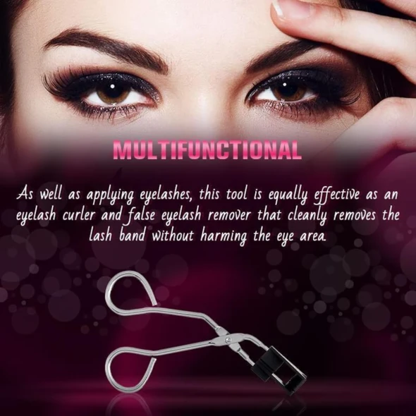 Special Set For Magnetic False Eyelashes And Magnetic Eyelash Curler(2 pair)