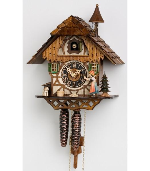 Lady Bell's Log House Cuckoo Clock