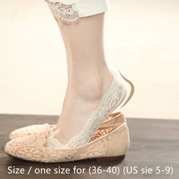 Lace invisible socks