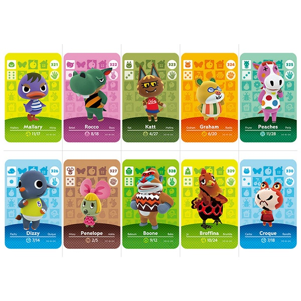 Animal Forest Amiibo Card Can Be Used for NS (301-400 Sheets To Choose From)
