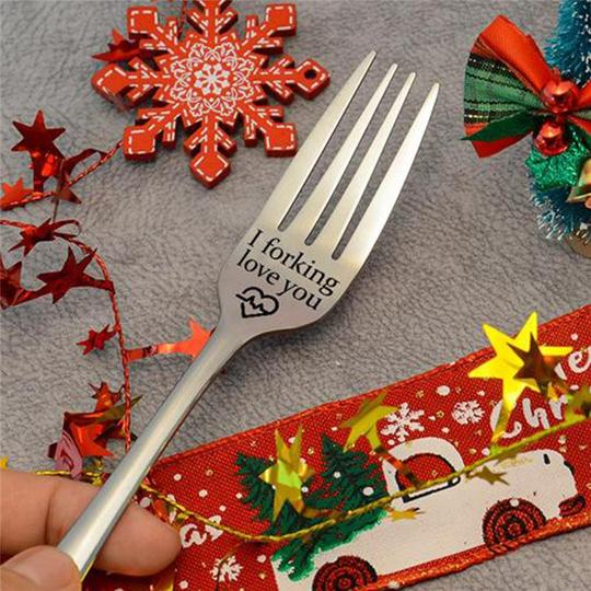 (VALENTINE'S DAY PROMOTION-SAVE 50%OFF) Engraved Fork Gift-Buy 4 FREE shipping