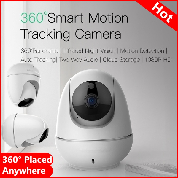 2019 New Mini Surveillance Camera 360° All-round Panorama1080P HD Wireless IP Camera Intelligent Auto Tracking of Human Infrared Night Vision Home Security Surveillance CCTV Network Wifi Camera Monitor
