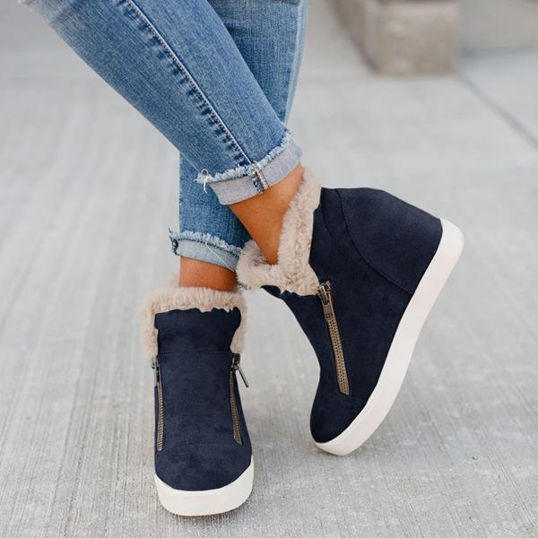 Bonnieshoes Waterproof Non-slip Warm Zipper Booties