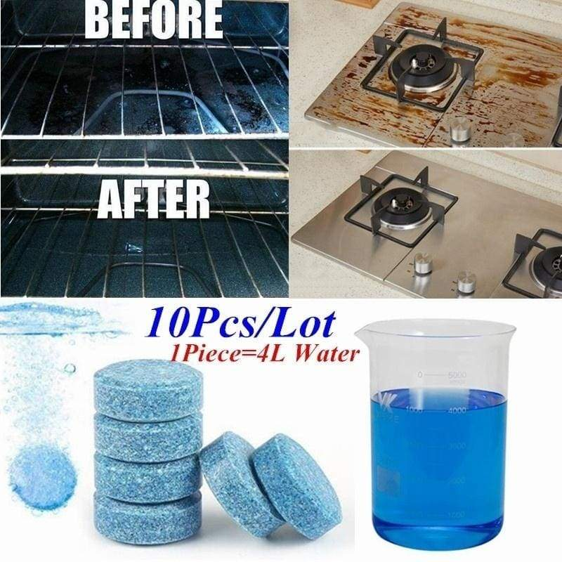10 Pcs/lot Water Multifunctional Effervescent Spray Cleaner Glass cleaning film Concentrate Home Cleaning Toilet Cleaner Chlorine Tablets Clean