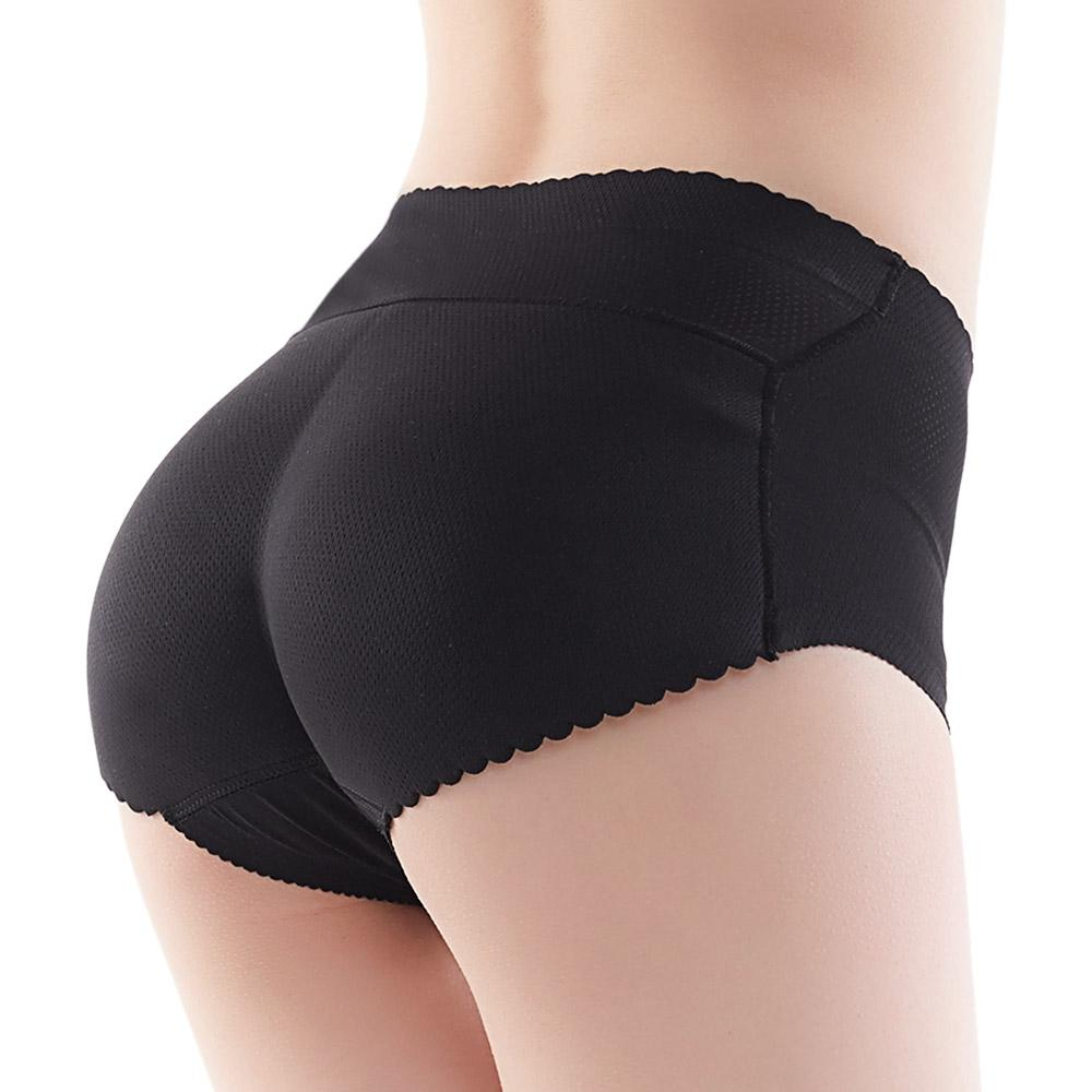 Mid Waist Solid Color Padded Seamless Women Body Shape Slimming Panties