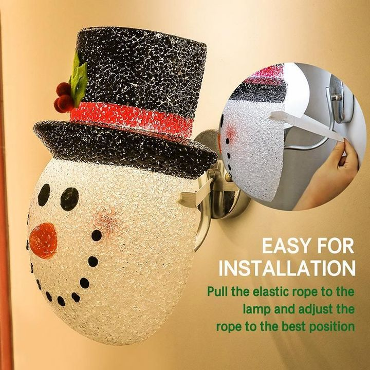 Christmas Snowman Porch Light Covers(Buy 2 Free Shipping)
