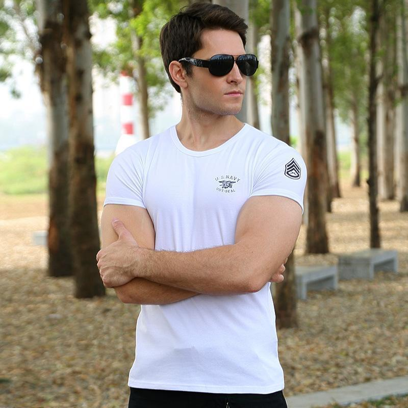 Last Day Promotion-Casual Cotton Round Neck Military Men T-shirt