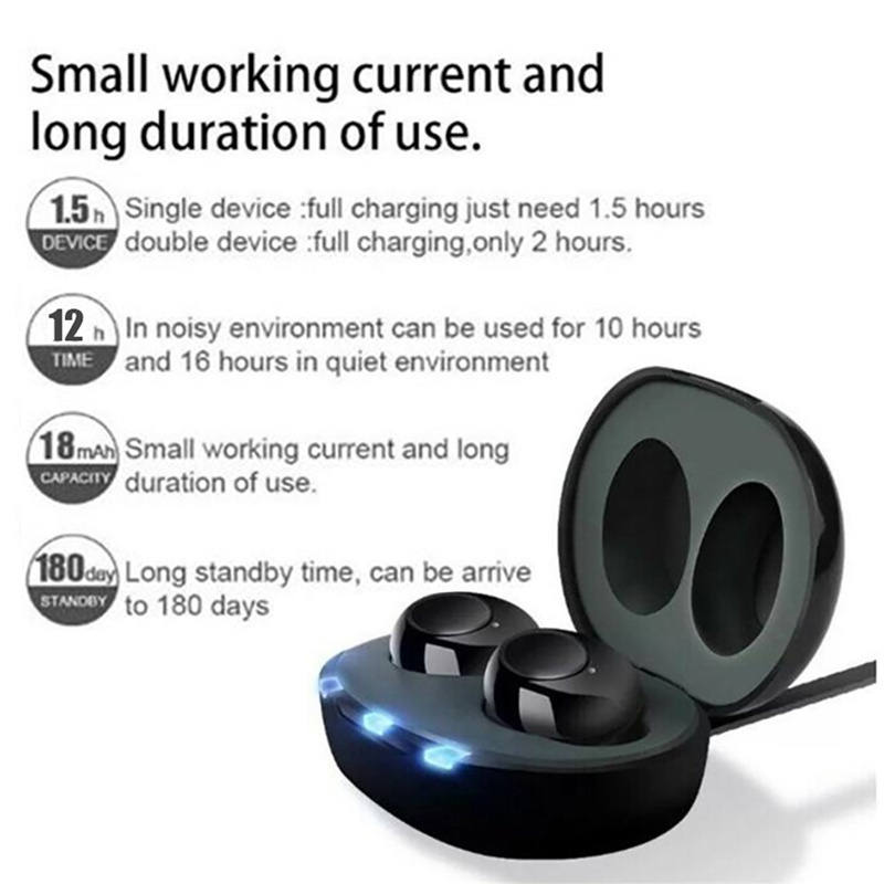 2020 Mini Rechargeable ITE Hearing Aid Digital Adjustable Tone for Sound Amplifier Hearing Aid for The Elderly Hearing Loss Factory direct sales
