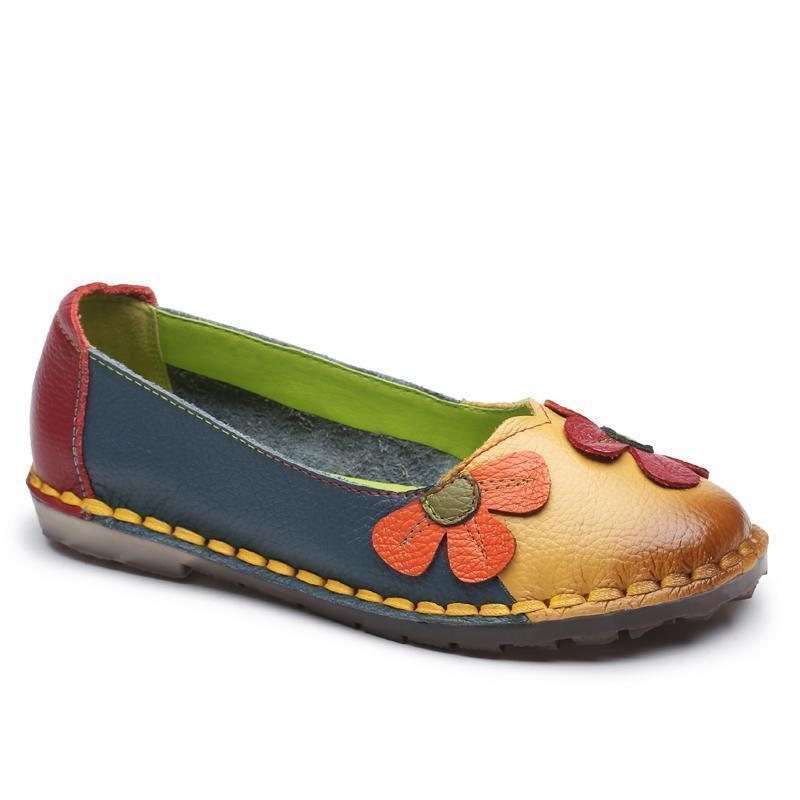 Fashion Spring Summer Autumn Flower Loafers for Women Slip-on Shoes