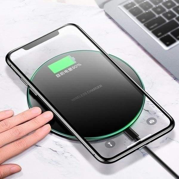 Qi Wireless Charger 10W/15W Fast Wireless Charging Pad Phone Charger Dock for Apple Iphone Samsung Xiaomi Huawei Android Mobile Phones