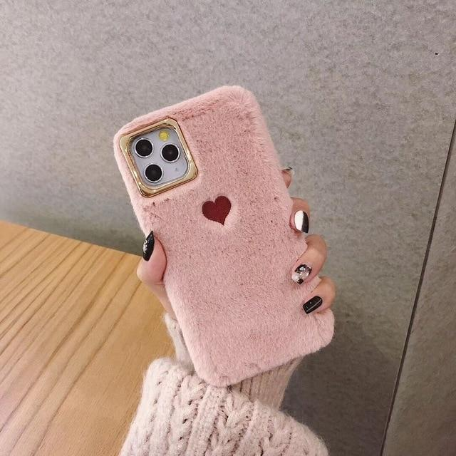 Cute Fluffy Heart Case