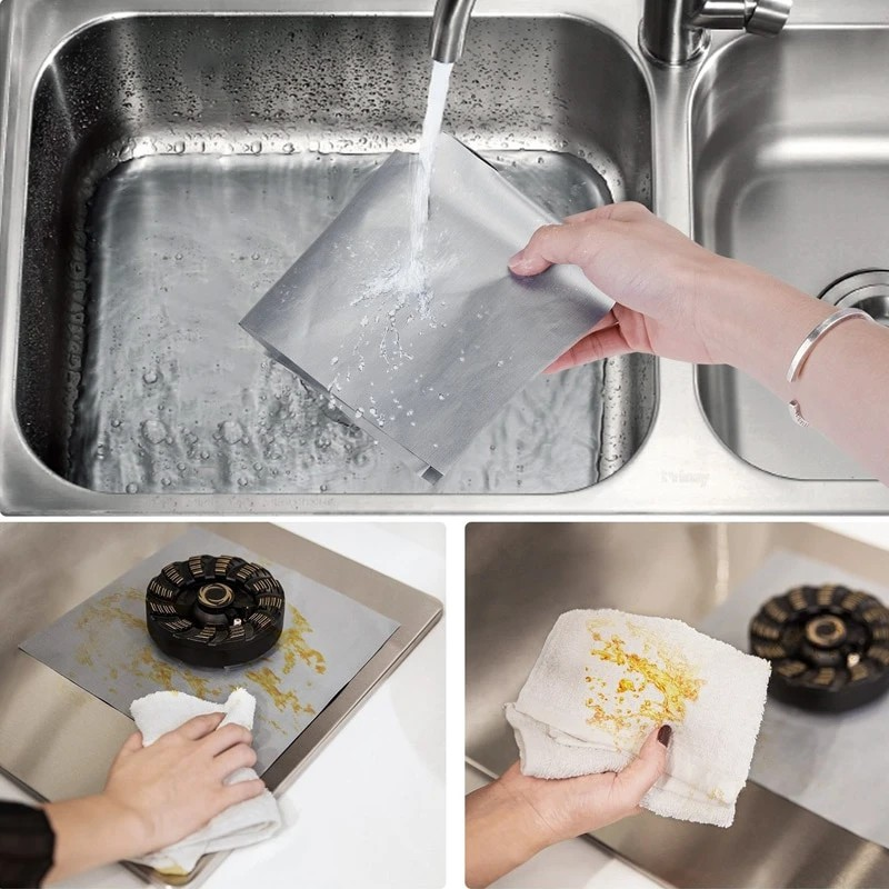 Reusable Foil Cover Gas Stove Burner Cover