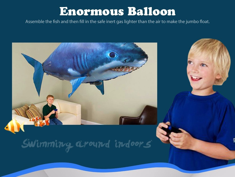Remote Control Flying Air Balloons Shark Toys
