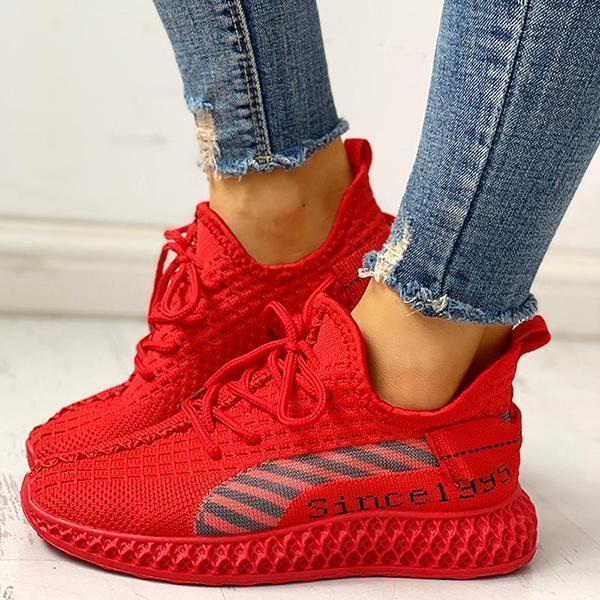 Upawear Lace-Up Breathable Casual Sneakers